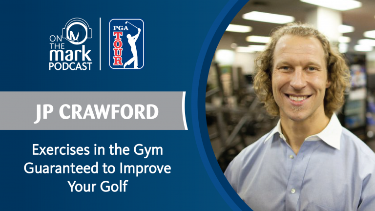 JP Crawford exercises in the gym to improve golf